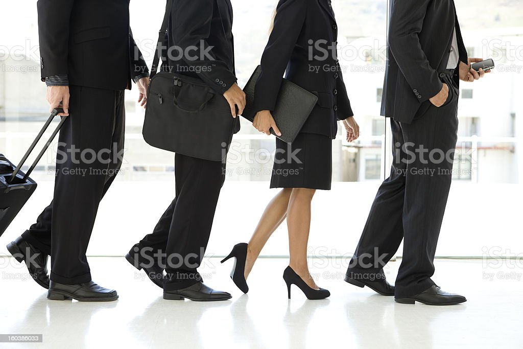Business team on its way stock photo