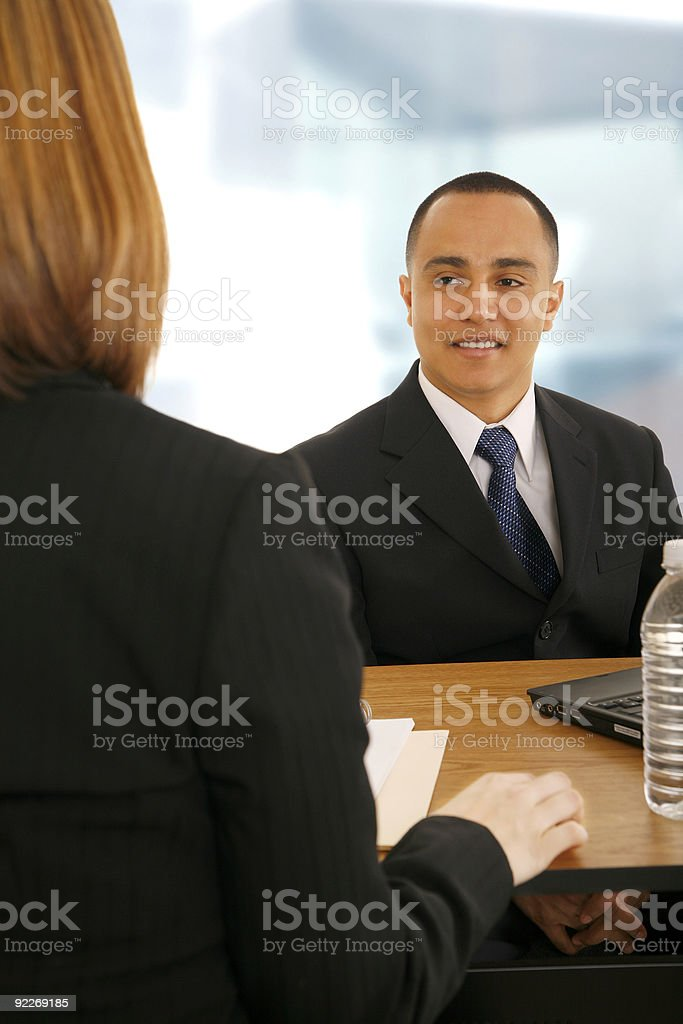 Business Team On Meeting royalty-free stock photo