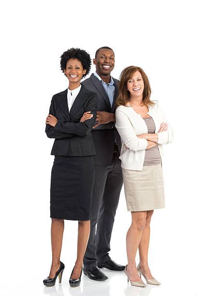 business team - drie personen stockfoto's en -beelden