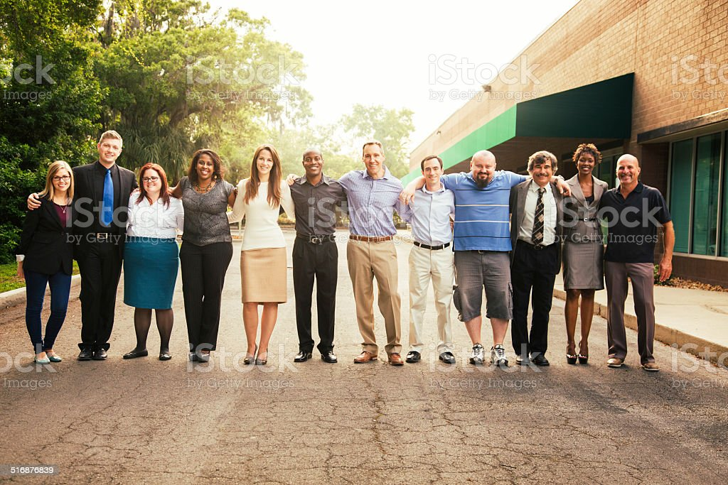 Business team portrait stock photo