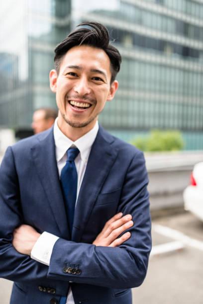 ビジネスチームの肖像画  - 男性 笑顔 ストックフォトと画像
