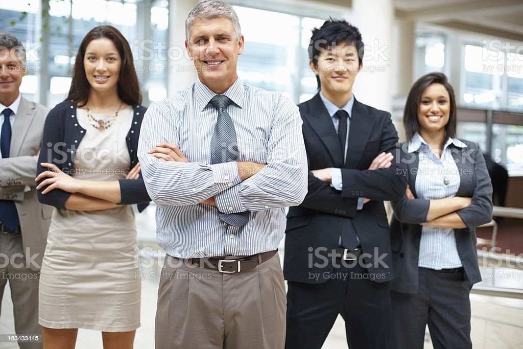 Business team posing royalty-free stock photo