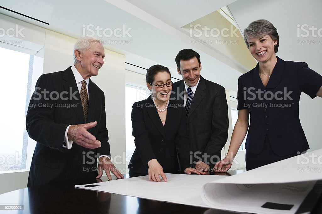 Business team reviewing successful plan. royalty-free stock photo