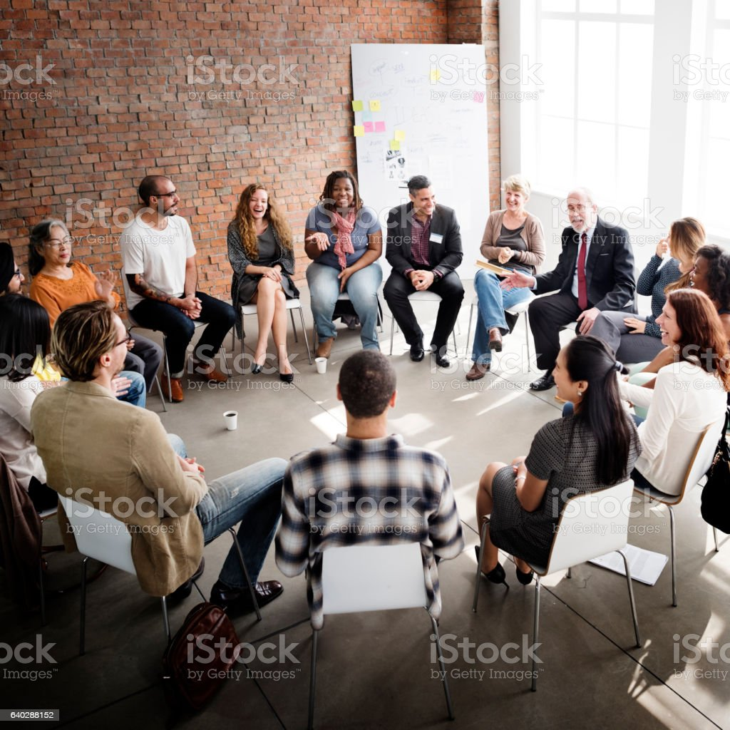 Business Team Seminar Corporate Strategy Concept stock photo