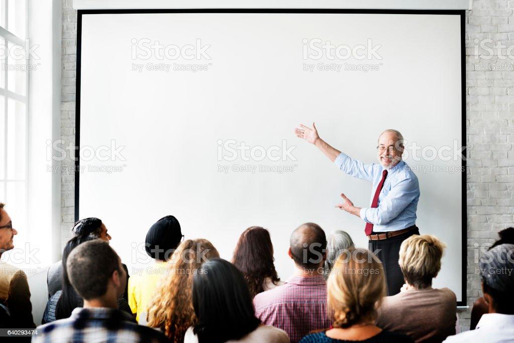 Equipo de negocios, seminario de música concepto de reuniones - foto de stock
