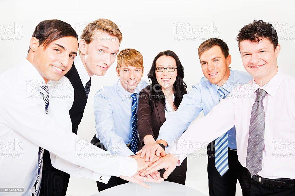 Business Team Spirit Hands Together royalty-free stock photo