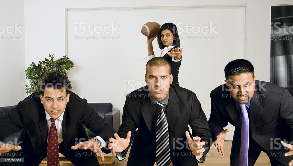 Business Team Sports Analogy royalty-free stock photo