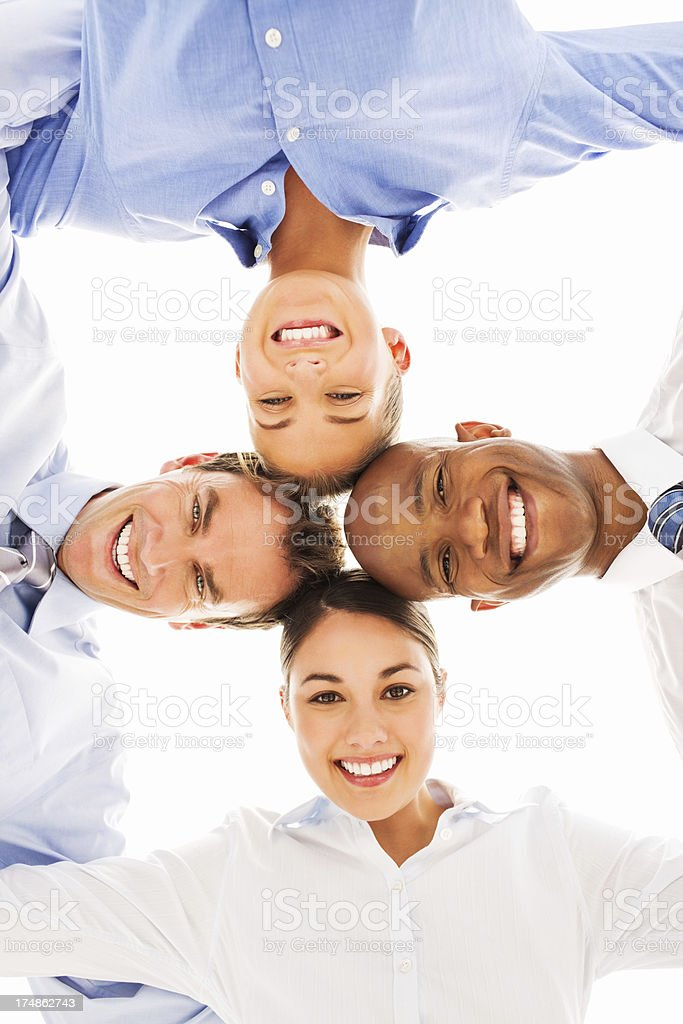 Business Team Standing In Huddle royalty-free stock photo