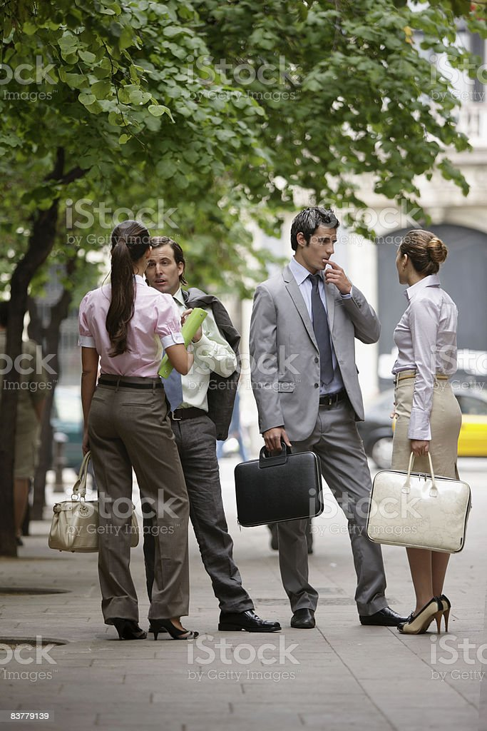 Business team talking on street royalty-free stock photo
