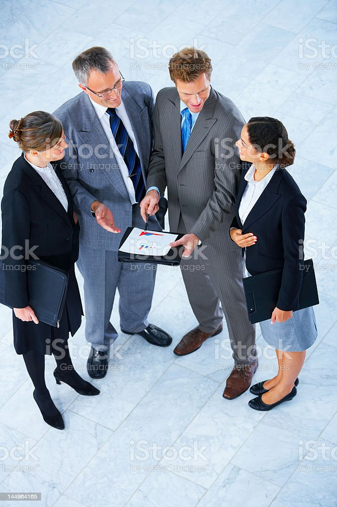 Business team talking royalty-free stock photo