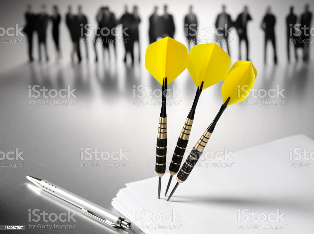 Business Team Target royalty-free stock photo