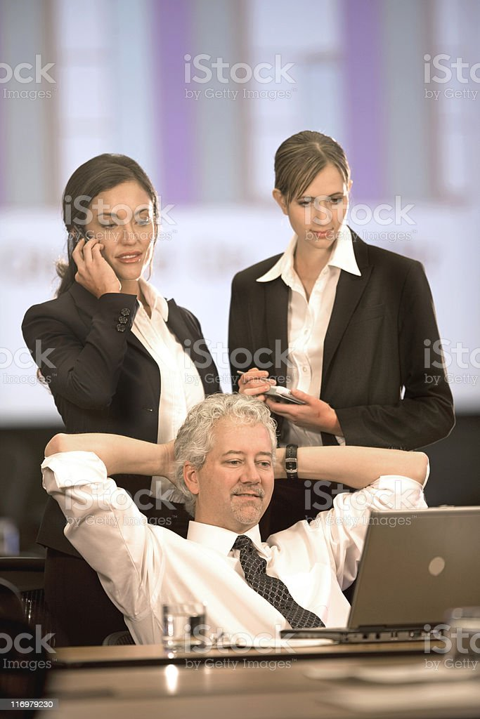 Business Team Together In An Office royalty-free stock photo