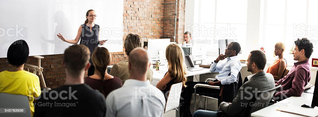Business Team Training Listening Meeting Concept royalty-free stock photo