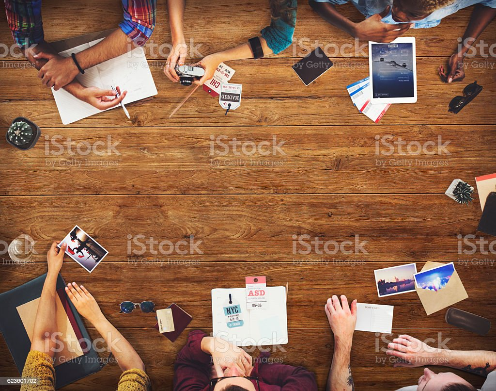 Business Team Travel Discussion Planning Concept stock photo