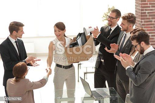 924520144 istock photo business team welcomes new employee 1020250762