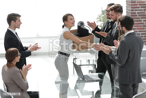 istock business team welcomes the young employee 1020248418