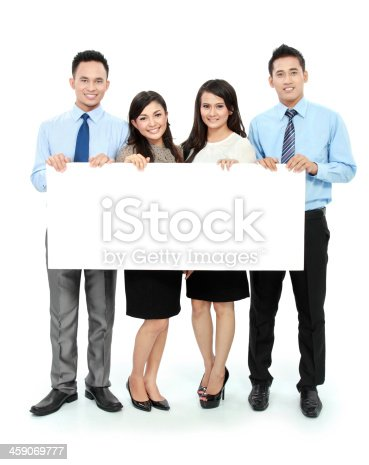 1048561866 istock photo business team with big blank card 459069777