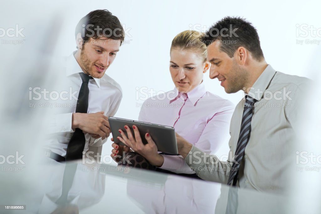 Business team with digital tablet royalty-free stock photo