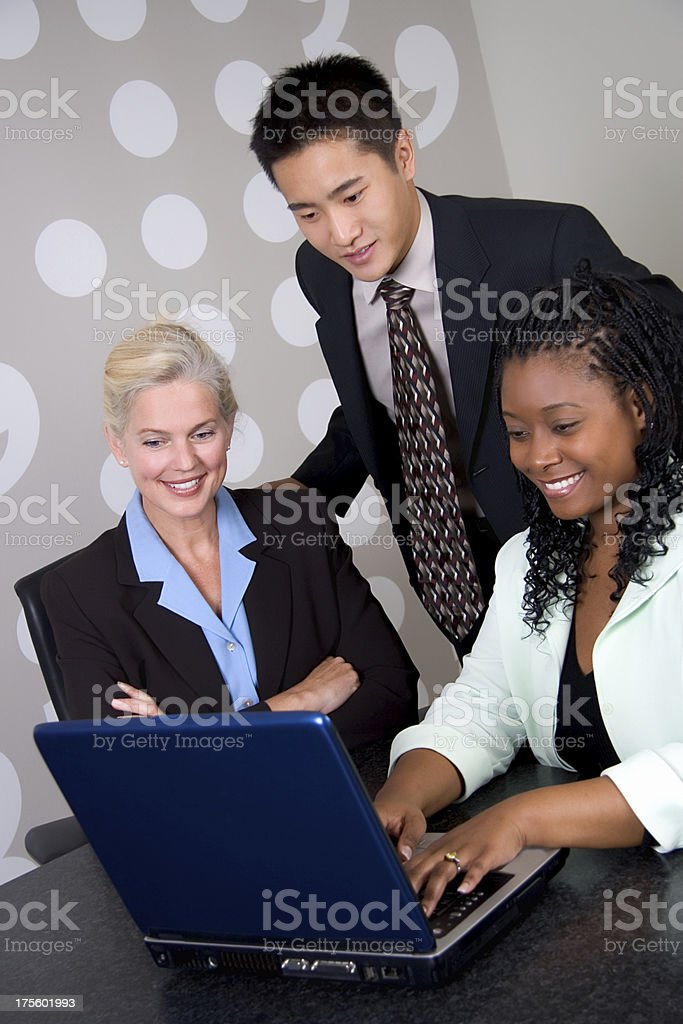 Business Team with Laptop 2 royalty-free stock photo