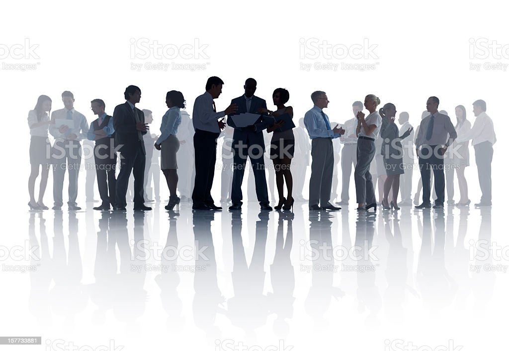 Business team with many people royalty-free stock photo