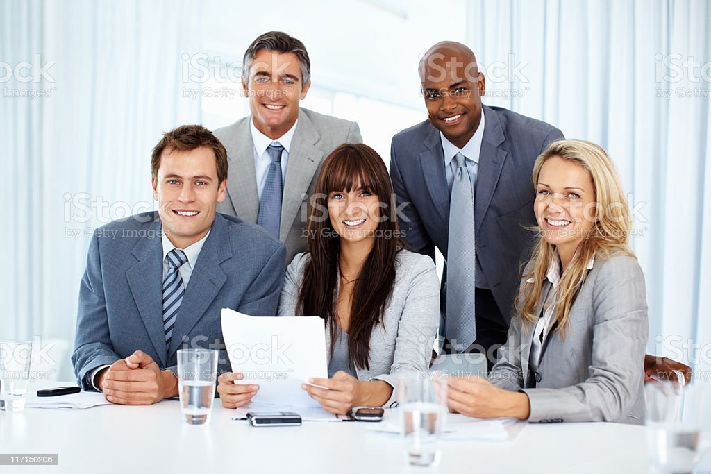 Business team with paperwork royalty-free stock photo