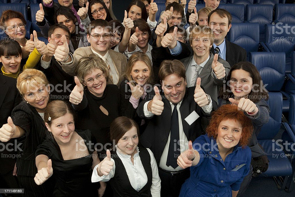 Business Team with Thumb Up. royalty-free stock photo