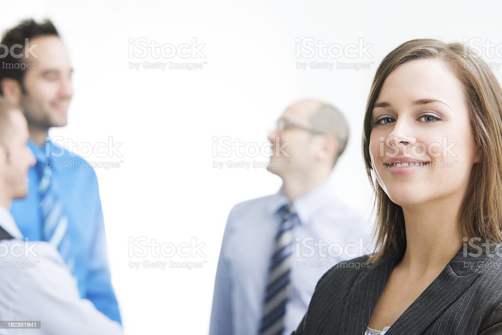 Business Team - Woman in Front royalty-free stock photo