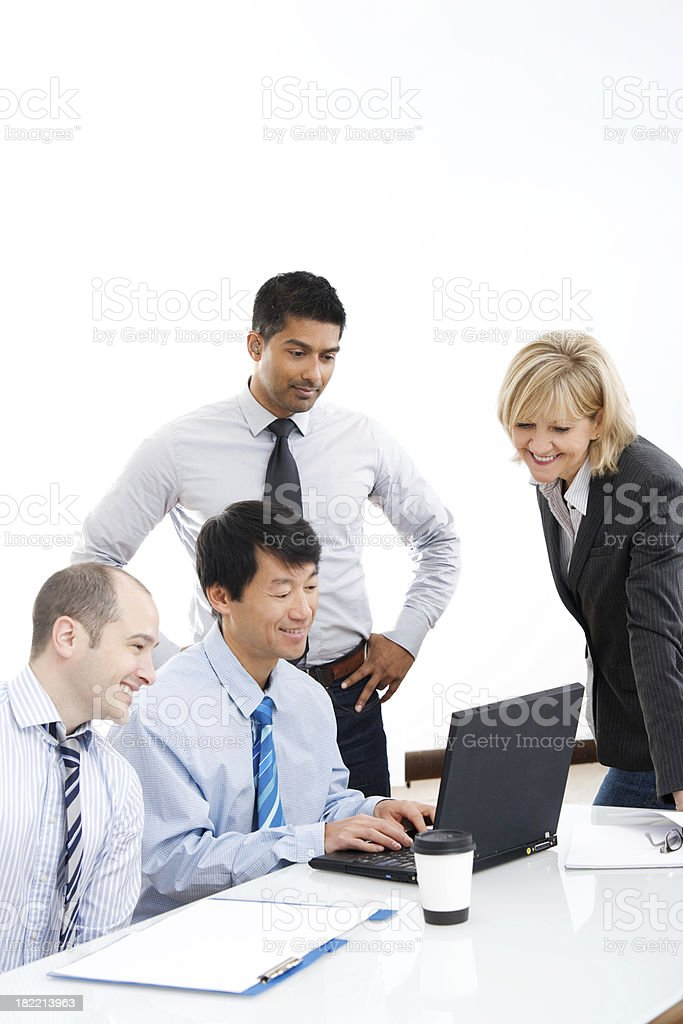 Business Team Working at Desk or Table royalty-free stock photo