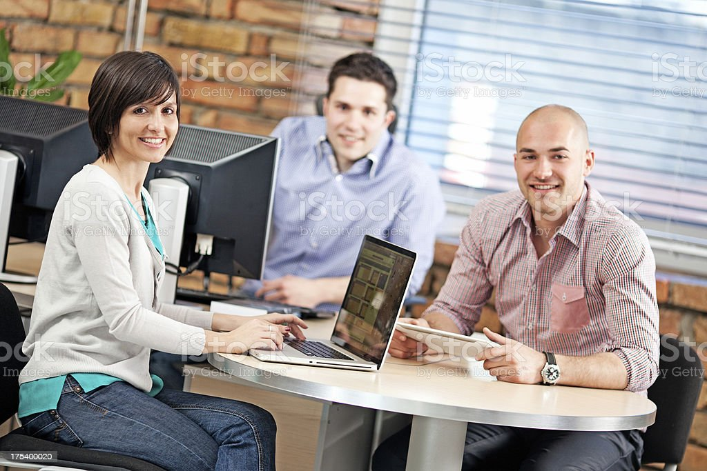 Business Team Working in Office royalty-free stock photo