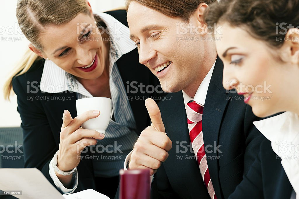 Business team working in the office royalty-free stock photo
