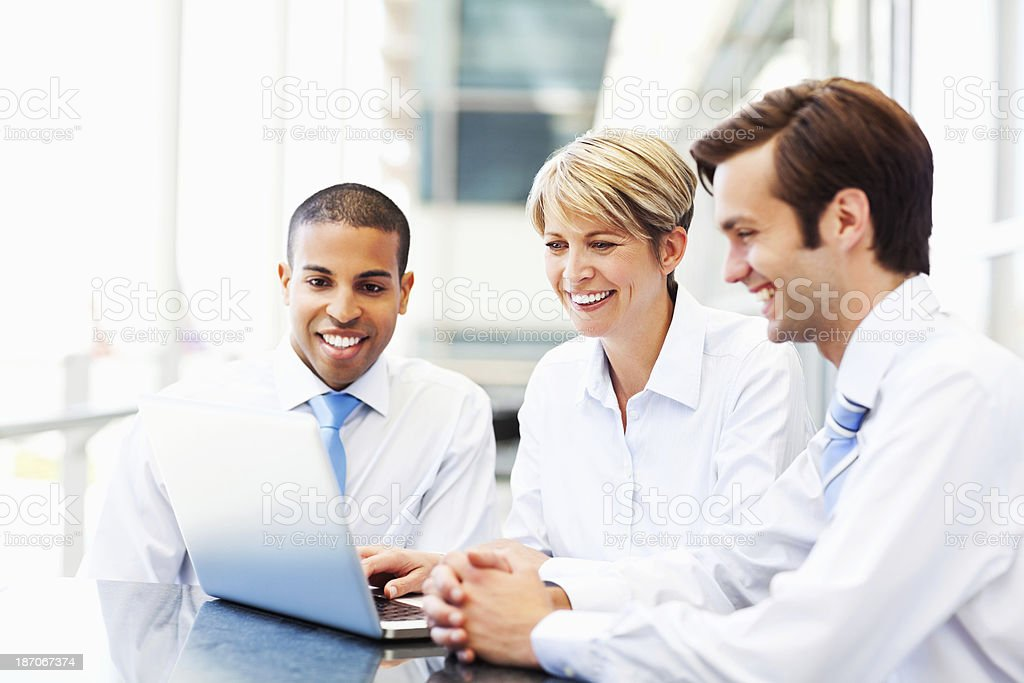 Business Team Working Together On Laptop royalty-free stock photo