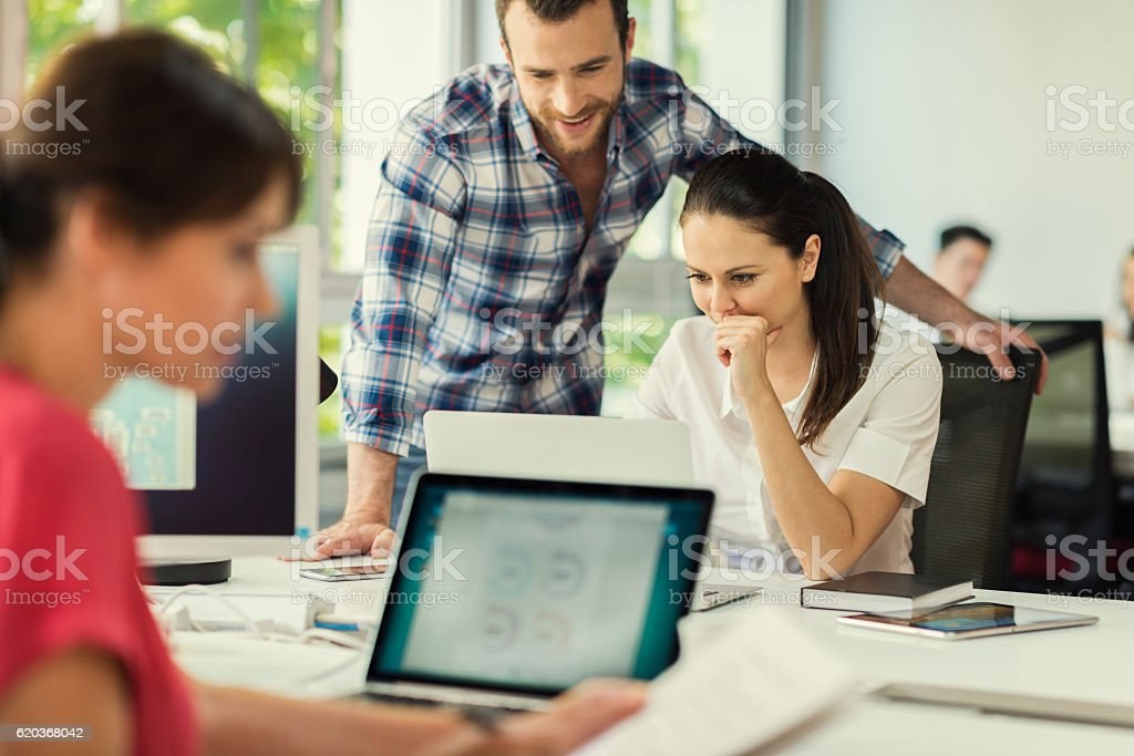 Business team working together on new project in company office foto de stock royalty-free
