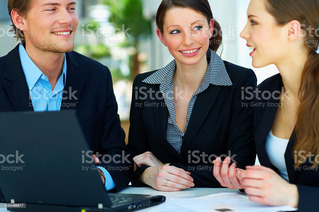 Business team working together royalty-free stock photo