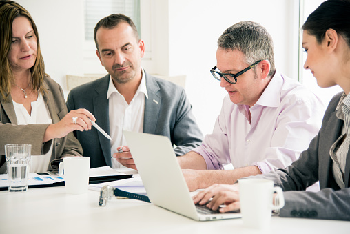 672116416 istock photo Business Team Working Together 672116416