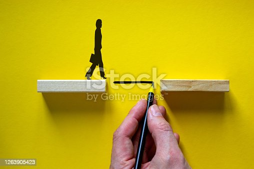 Business teamwork and cooperation concept. Beautiful yellow background, copy space.