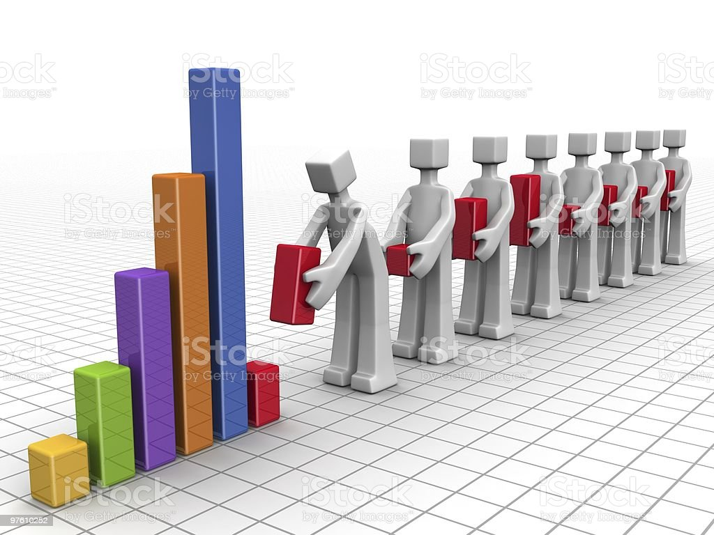 Business teamwork and performance concept royalty-free stock photo