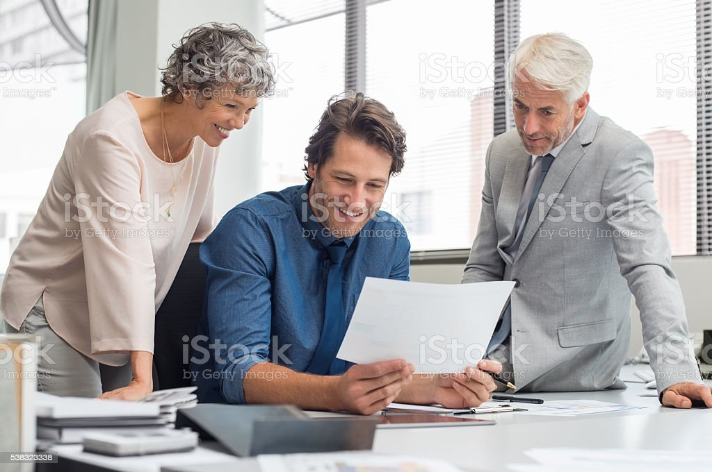 Business teamwork in meeting stock photo