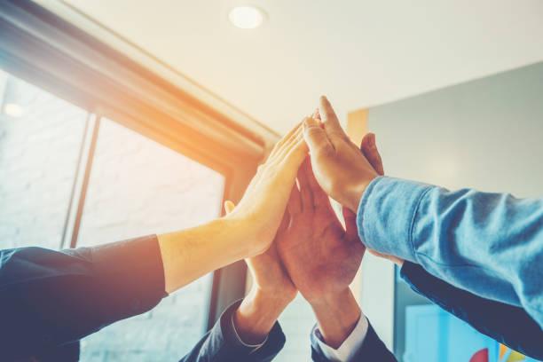 Business Teamwork joignant les mains esprit Concept de Collaboration d'équipe - Photo