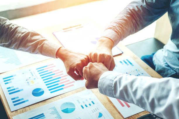 Business Teamwork  joining hands team spirit - foto stock