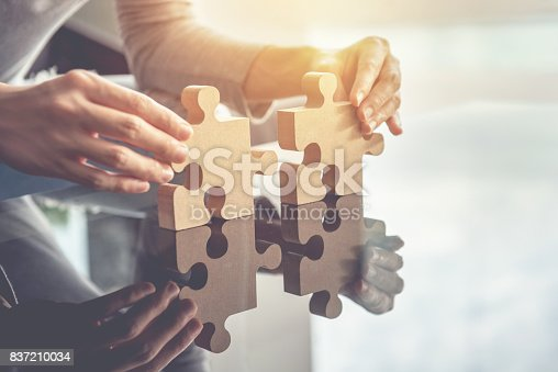 istock Business teamwork, success and strategy concept 837210034