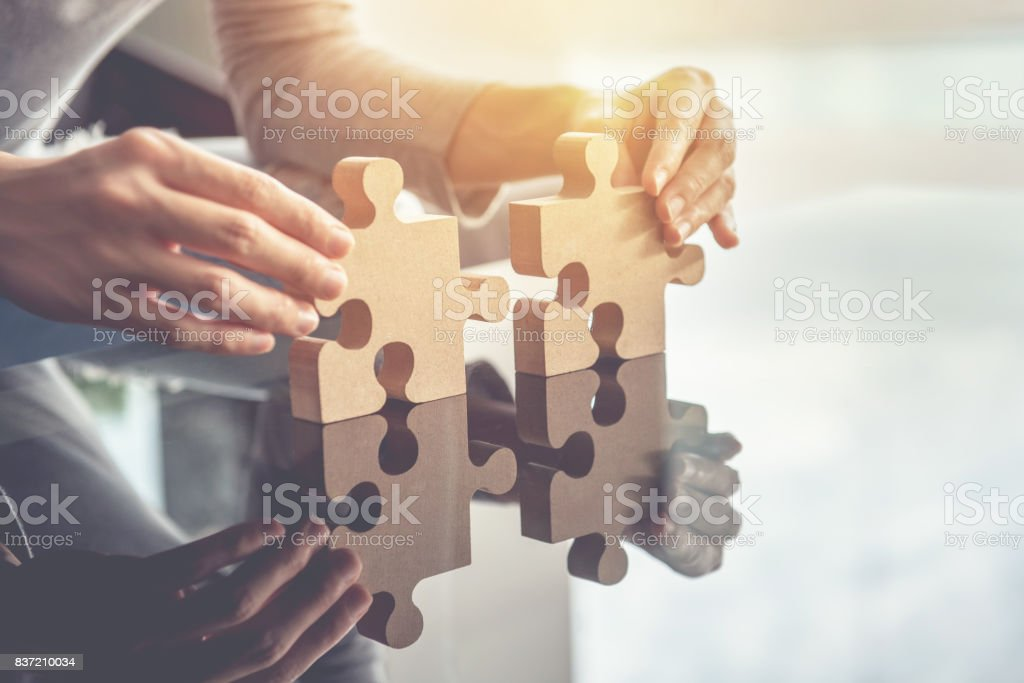 Business teamwork, success and strategy concept - foto stock