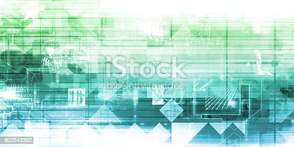 istock Business Technology Background 802543352