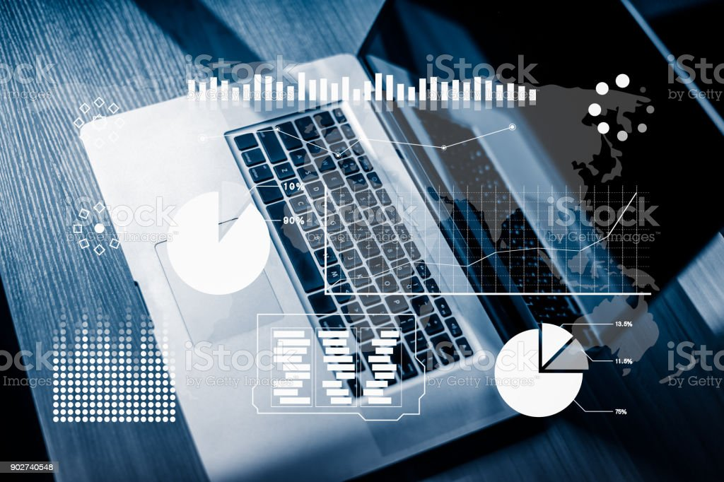 business technology concept stock photo