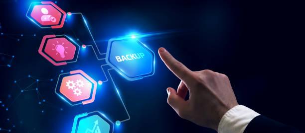 Business, Technology, Internet and network concept. Backup storage data internet technology. stock photo