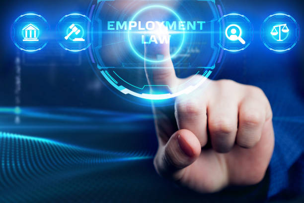 Business, Technology, Internet and network concept. Employment Law. stock photo