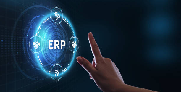 Business, Technology, Internet and network concept. Enterprise resource planning ERP concept. stock photo