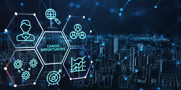 CAREER OPPORTUNITIES. Business, Technology, Internet and network concept.