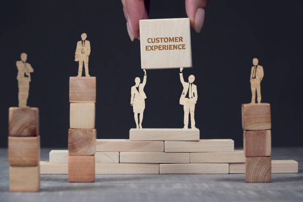 Business, Technology, Internet and network concept. Shows the inscription: Customer Experience stock photo