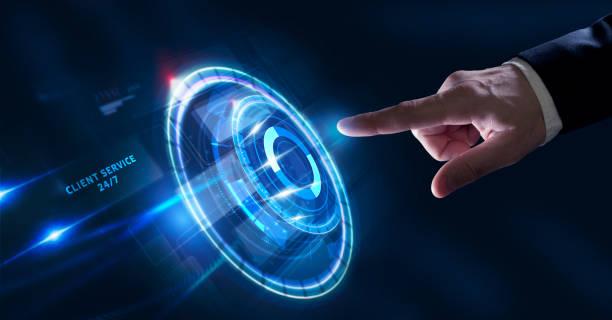 business, technology, internet and network concept. technical support center customer service. - call center стоковые фото и изображения