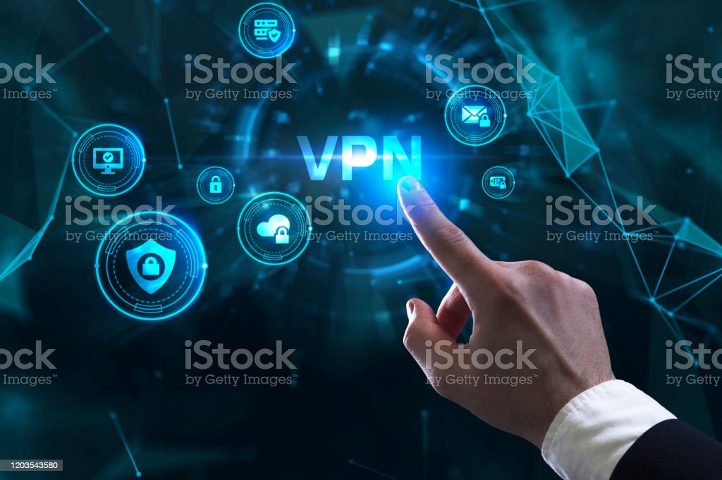 Business, Technology, Internet and network concept. VPN network security internet privacy encryption concept. - Royalty-free Business Stock Photo